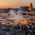 Private Morocco Trips - Marrakech Shared Tour - Fes Desert Itinerary Jamaa elfna Djemaa el Fna in Marrakesch Marrakech